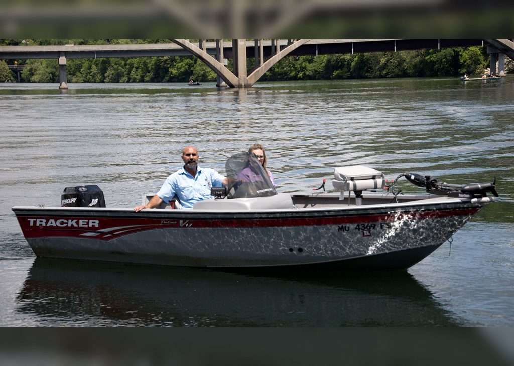 Bass boat rentals at Scotty's Trout Dock